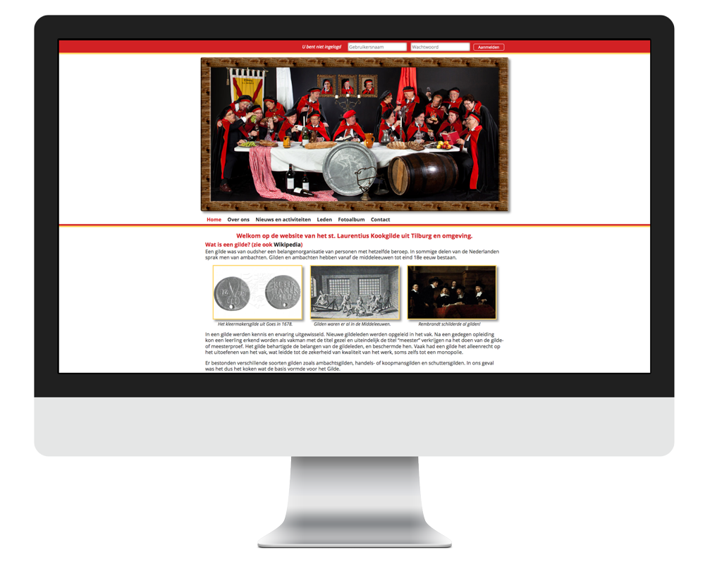Website Laurentius Kookgilde