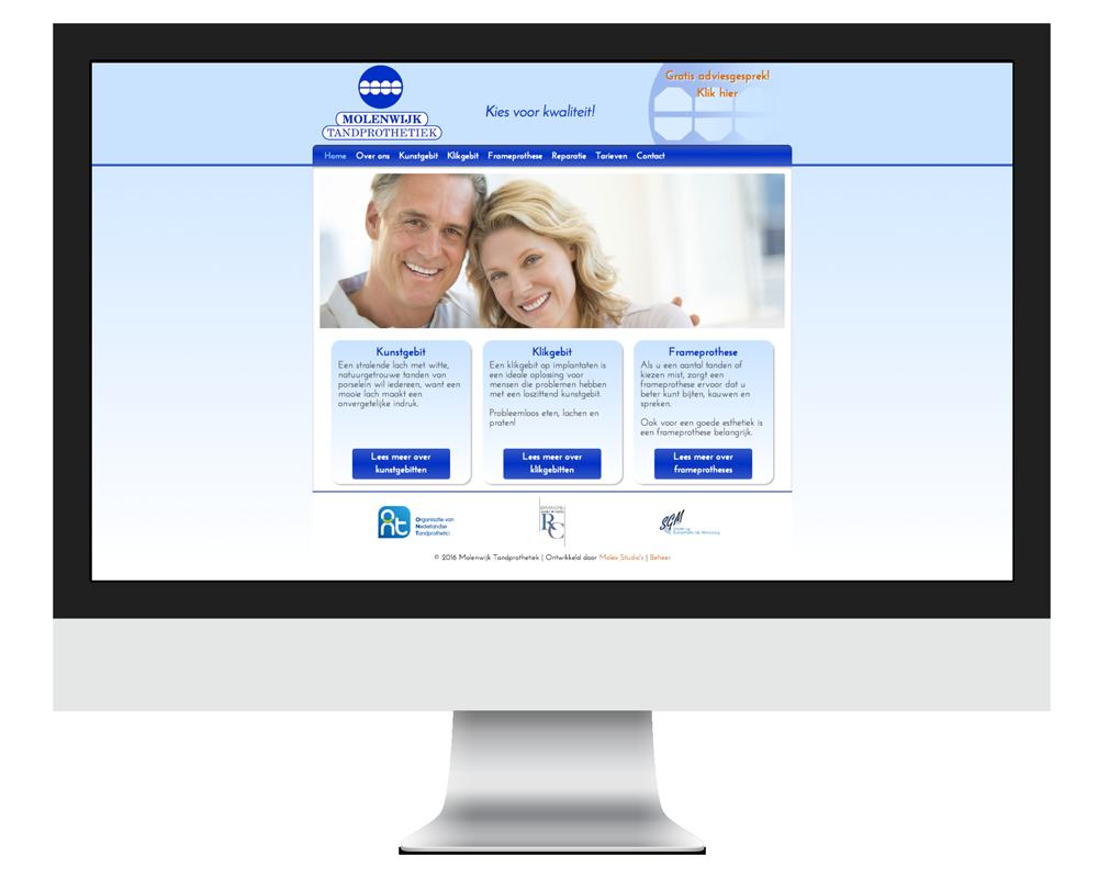 Website Molenwijk Tandprothetiek